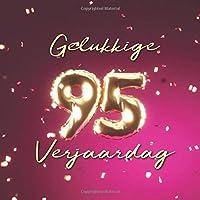 Gelukkige 95e Verjaardag: Gastenboek voor de Verjaardag - Ballonnen Goud-Roze