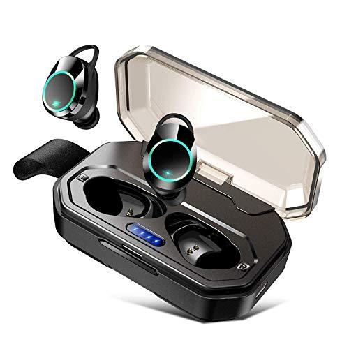 bluetooth イヤホン ワイヤレスイヤホン カナル型 IPX7防水 Bluetooth5.0 自動ペアリング 両耳