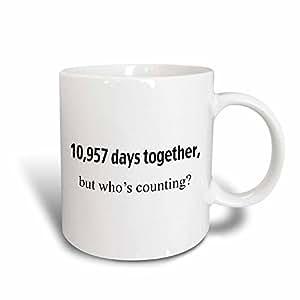 3Dローズ エバデーン - ハッピーアニバーサリー - 10,957 日一緒でした。しかし誰が数えていますか。ハッピー 30 周年記念 - マグ - 311グラム(11 オンス)マジック変身マグカップ - mug_112213_3 (並行輸入)