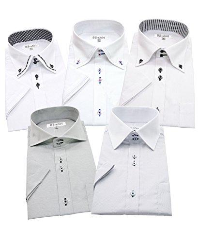 BS-shirt(ビジネスマンサポートシャツ) 半袖ワイシャツ 5枚セット メンズ 形態安定 f-s 044-LL