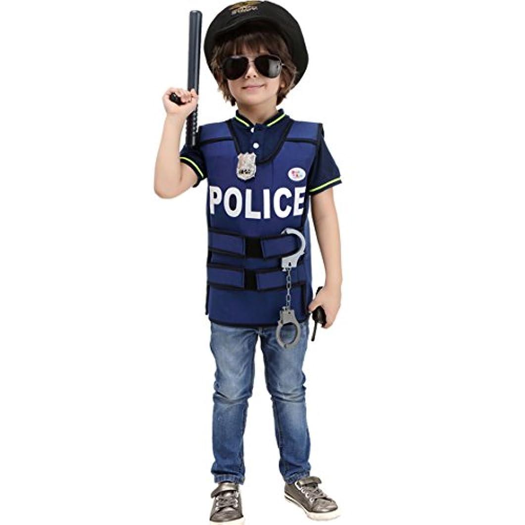 友情万一に備えてくすぐったいcnstone ハロウィン 仮装 衣装 キッズ 子供 ポリス 警察 警官 ポリスマン コスプレ衣装 コスチューム
