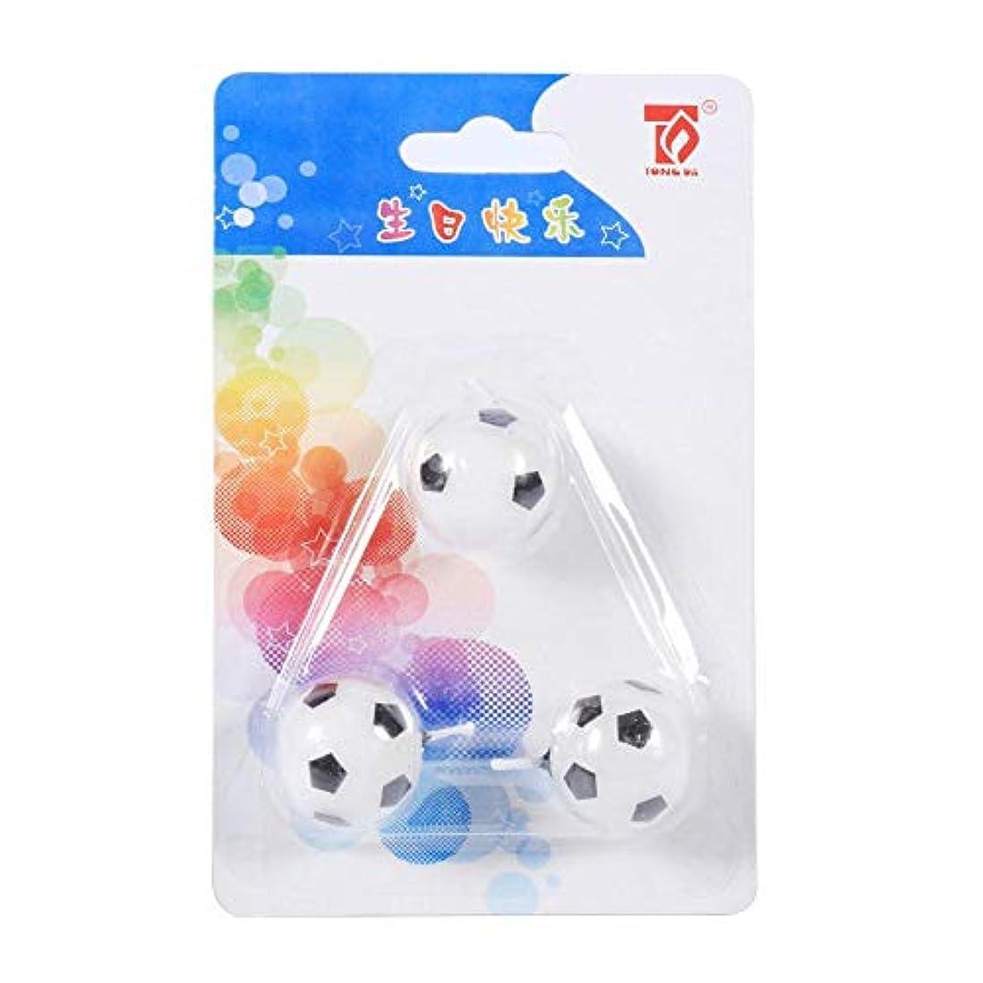 原子バラエティ同等のEboxer キャンドル サッカーボールキャンドル キャンドル誕生日 子供向 3個入 サッカーボールの形 誕生日 パーティケーキのキャンドル 飾り物 可愛い