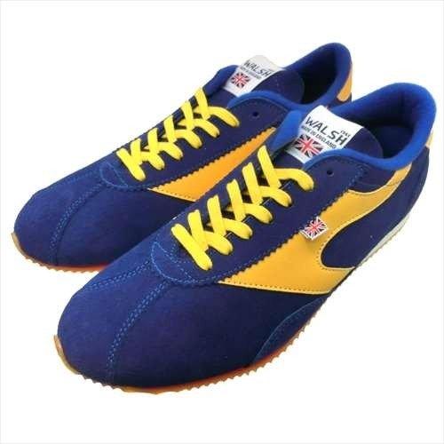 (ウォルシュ)WALSH COBRA RACE COB40012 BLUE/YELLOW ブルー×イエロー スニーカー メンズ UK9 [並行輸入品]