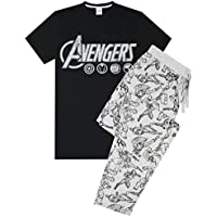 vanilla underground The Avengers Logo Mens Lougepants & T-Shirt Pyjama Set