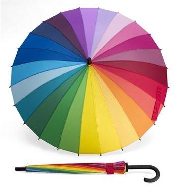 【MoMA】 Color Wheel Stick Umbrella 24カラーホイールアンブレラ 83192 長傘