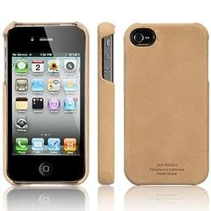 SPIGEN SGP アイフォン 4 / 4S ケース レザーグリップ 【 VINTAGE BROWN 】 液晶保護シートセット 本革 for iPhone 4 / 4S 【 SGP06836 】