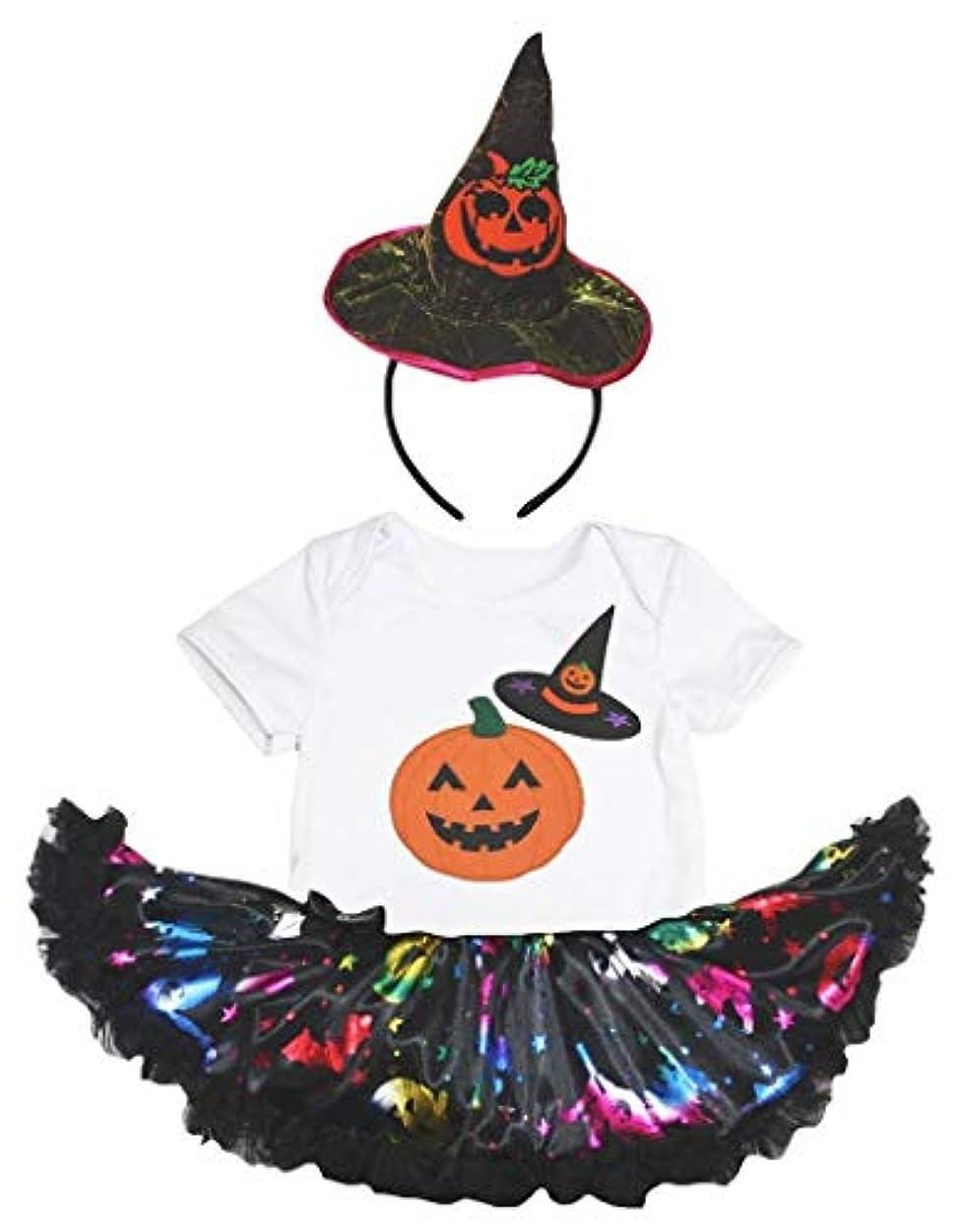 震える抜粋インド[キッズコーナー] ハロウィン My 1st Halloween ホワイト パンプキン 子供コスチューム、子供のチュチュ、ベビー服、女の子のワンピースドレス Nb-18m (ホワイト, Medium) [並行輸入品]