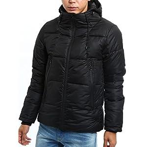 インプローブス 中綿 ジャケット ボリュームネック ジャンパー メンズ ブラック M サイズ