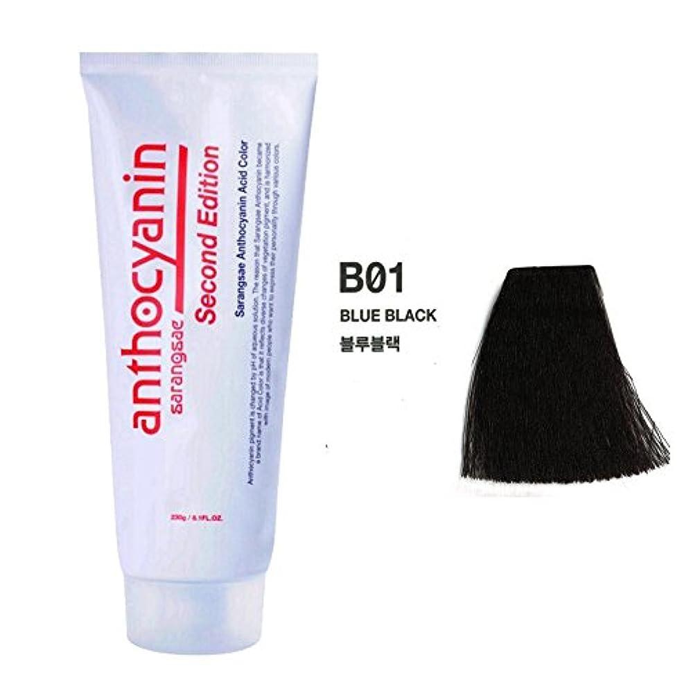 半島に沿って千ヘア マニキュア カラー セカンド エディション 230g セミ パーマネント 染毛剤 ( Hair Manicure Color Second Edition 230g Semi Permanent Hair Dye) [並行輸入品] (B01 Blue Black)