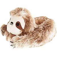 Slumberzzz Childrens/Kids Sloth Slippers (UK Size: 11-12 Child UK) (Brown)