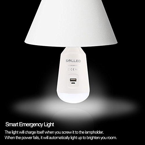 ASALON LEDランタン 3 IN 1 LED電球 E26口金 560LM 充電式 ポータブルライト モバイルバッテリー機能 寝室/停電/防災/キャンプなど対応