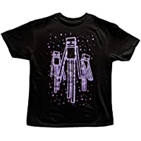 Minecraft Boys Enderman Glow in The Dark T Shirt (Small (8))
