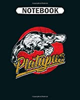 Notebook: platypus duck animal australia mammal venom retro  College Ruled - 50 sheets, 100 pages - 8 x 10 inches