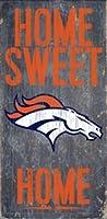 """Denver Broncosホームスイートホーム木製サイン12"""" x6"""""""