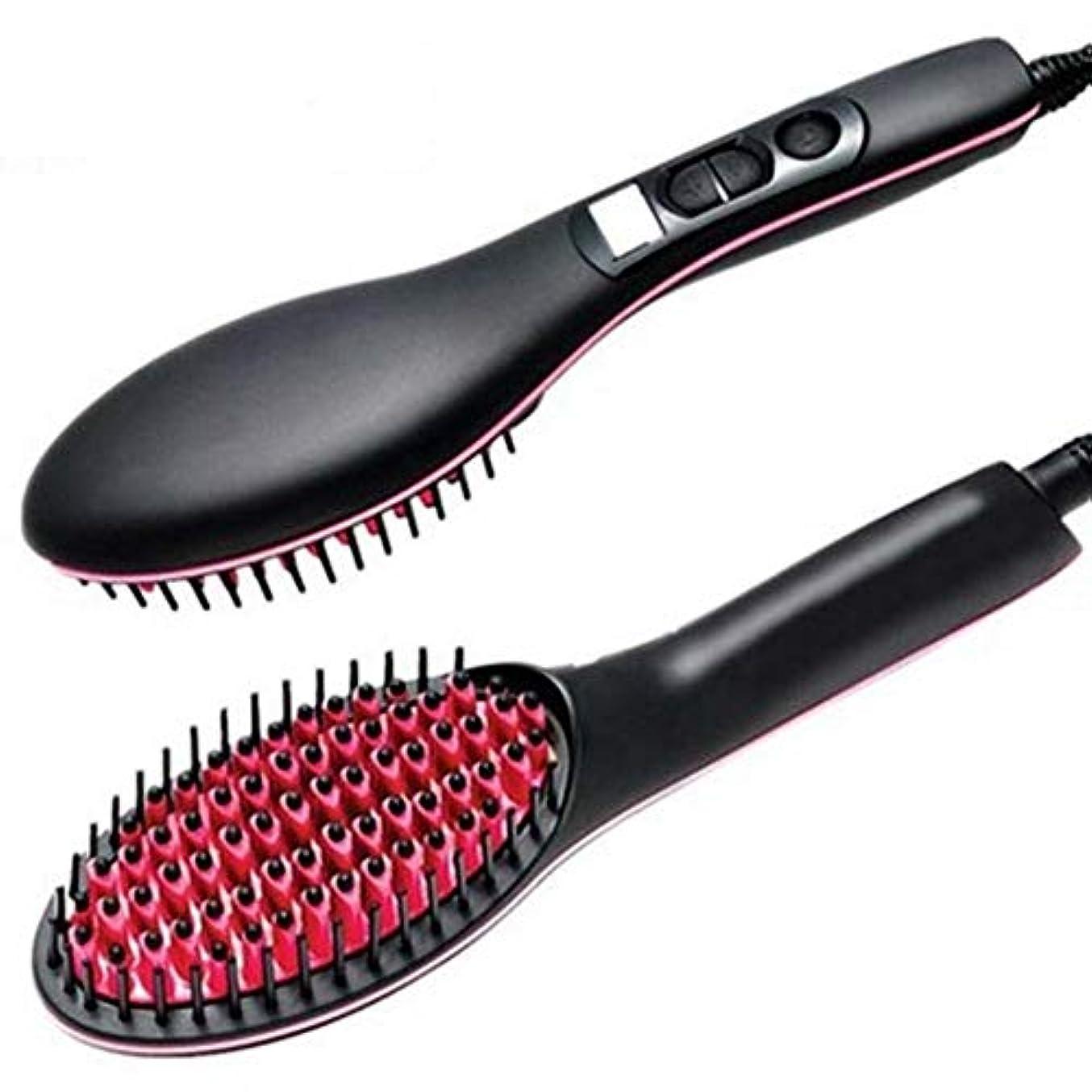 どう?素敵なウガンダCQQ 電気ストレートヘアコーム、脱毛ブラシ、電気ヘアブラシ、素早く簡単にもつれを解くための振動する毛、ドライでしっとりした髪に適しています