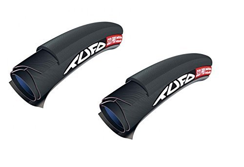 2本セット TUFO S33 PRO チューブラータイヤ Tubular (ブラック/ブラック, 700x24mm) [並行輸入品]