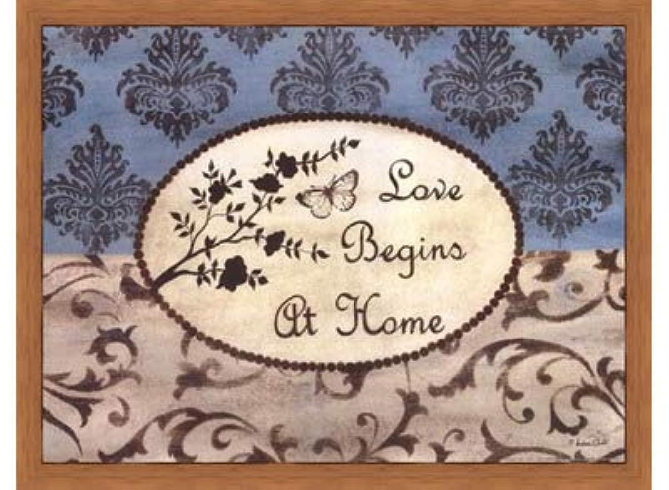 部分的オーブン伝染性のLove Begins at Home by Andrea Roberts – 16 x 12インチ – アートプリントポスター LE_665220-F8744-16x12