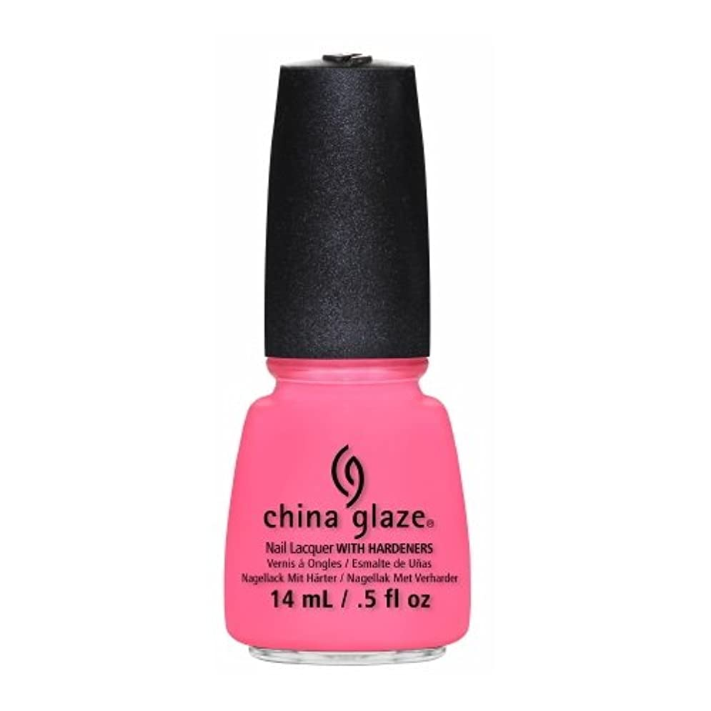 着服つぶす収束するCHINA GLAZE Nail Lacquer - Sunsational - Neon On & On (並行輸入品)