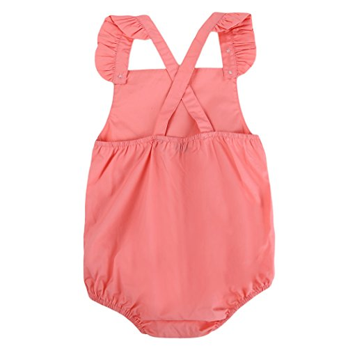 435c41be22abf サクララ(Sakulala) ベビー ロンパース 連体服 新生児 赤ちゃん フリル キャミソール 女の子 足つき ボディスーツ 肌着 キッズ  カバーオール 七三五 お着替え簡単 新.