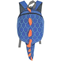 ZuiKyuan Toddler Kids Dinosaur Backpack with Leash for Boys Girls (Blue)