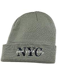 (ニューハッタン)NEWHATTAN ACRYLIC NYC アクリルニットキャップ グレー 16098