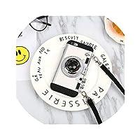 丸ぽい for iPhone X XR XS MAX 8 7 6 6s iphonexs最大のアンチフォール8pluss韓国の創造的な人格の潮のためのfor Apple 7携帯電話シェル6sカメラストラップ,白色,iPhone5 / 5s / se