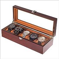 【CIPLEK】高級 腕時計 収納ケース コレクションケース 木製 ブラウン (5本用) CIPLEK オリジナル保証書付き