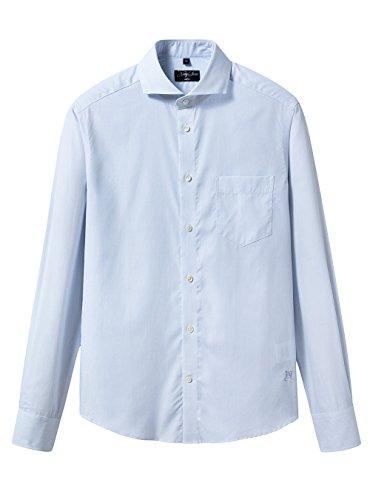 形態安定メンズ綿ストライプビジネス長袖ワイシャツ