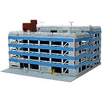 スカイネット 建築ロマン堂 No.05 1/150 立体駐車場 (ブルー) (塗装済み組み立てキット)