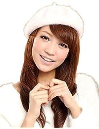 【ヤヌークゴラ】 ベレー帽 レディース アンゴラ モヘア ファー ベレー 秋 冬 シンプル カラー 豊富