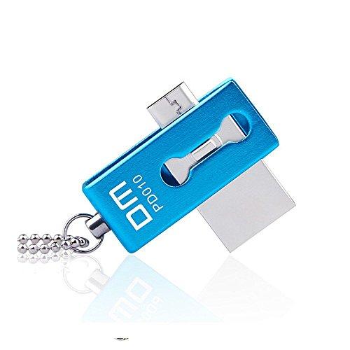 USBメモリ 32GB Micro USBフラッシュメモリ 高速伝送 回転式 耐衝撃 防滴 防塵 金属製 Android スマホ・パソコン・タブレットを対応