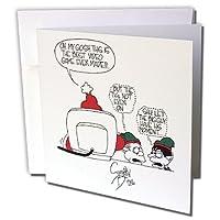 リッチDiesslins Cartoon日のクリスマスTCDC–Sean Boleyカートゥーンサンタとビデオゲームに関するクリスマス–グリーティングカード Individual Greeting Card