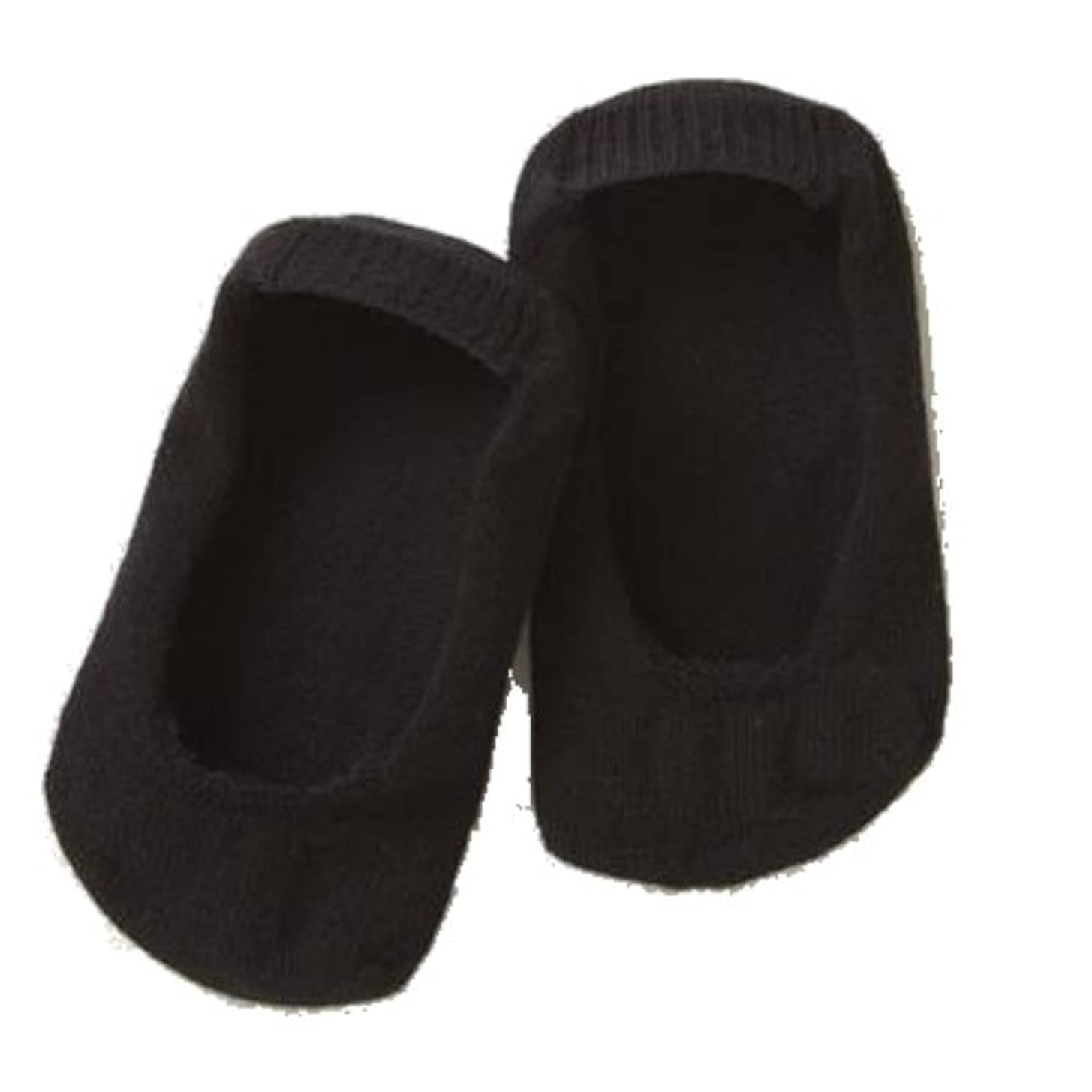ビスケット染色公平な足指すっきり内側5本指フットカバー 1足組 ブラック