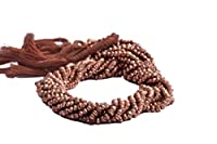 Beads Bazar Natural Beautiful jewellery Copper Pyrite Faceted Beads 3.5 TO 4.5 MM Sold per 14-inch strandCode:- NY-13551