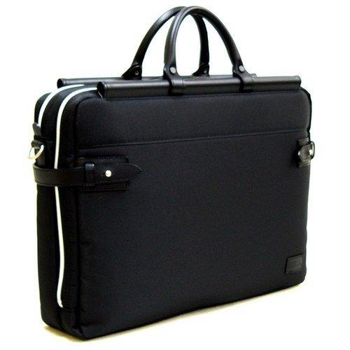 カバンモノNo7掲載 デザイン全てに意味がある豊岡製天棒ビジネスバッグW 鞄の聖地から 国産 織人 天棒ビジネスバッグW ブラック 日本製(5984-01,)