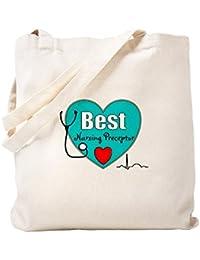 CafePress – Best Nursing Preceptorブルー。PNGトートバッグ – ナチュラルキャンバストートバッグ、布ショッピングバッグ S ベージュ 0690828778DECC2