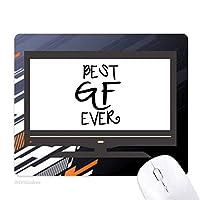 これまでに最高のgfは彼女のバレンタインデー ノンスリップラバーマウスパッドはコンピュータゲームのオフィス