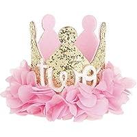 (ビグッド) Bigood ベビー 赤ちゃん 王冠 クラウン ヘアバンド 帽子 パーティー ヘアアクセサリー 記念日用 撮影用 ヘアバンド お誕生日用 髪飾り