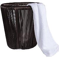 タオル収納バスケット、純粋な手織りアルミニウムフレーム防湿金型フリーバスルームデブリ保管バスケット。