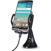 ONX3 (Qi Wireless Car Charger) Yezz Andy 5E LTE ウインドシールド/ダッシュボード用ユニバーサル高速充電QIワイヤレスカーチャージャステーションマウントホルダー