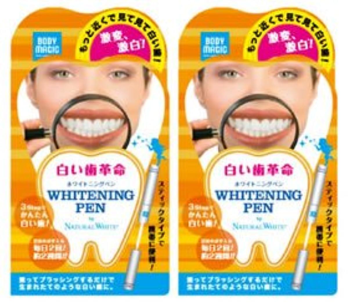 路面電車桃コード《セット販売》 ナチュラルホワイト ボディマジック ホワイトニングペン 2個セット 【白い歯革命】 ラピッドホワイトBスティック 【ジェルハミガキ】