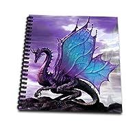 Mythical–おとぎ話ドラゴン–Drawing Book 4x4 notepad db_4144_3