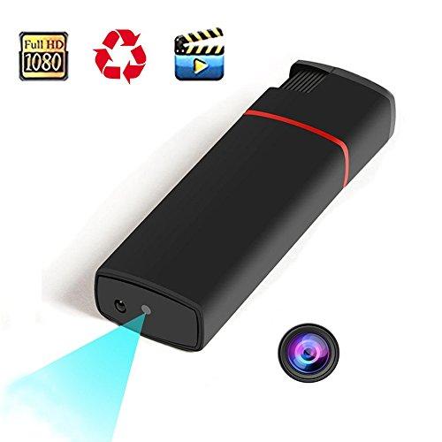 隠しカメラ 高画質 ライター型 超小型 カメラ スパイカメラ 充電式 防犯カメラ(カードがない)...