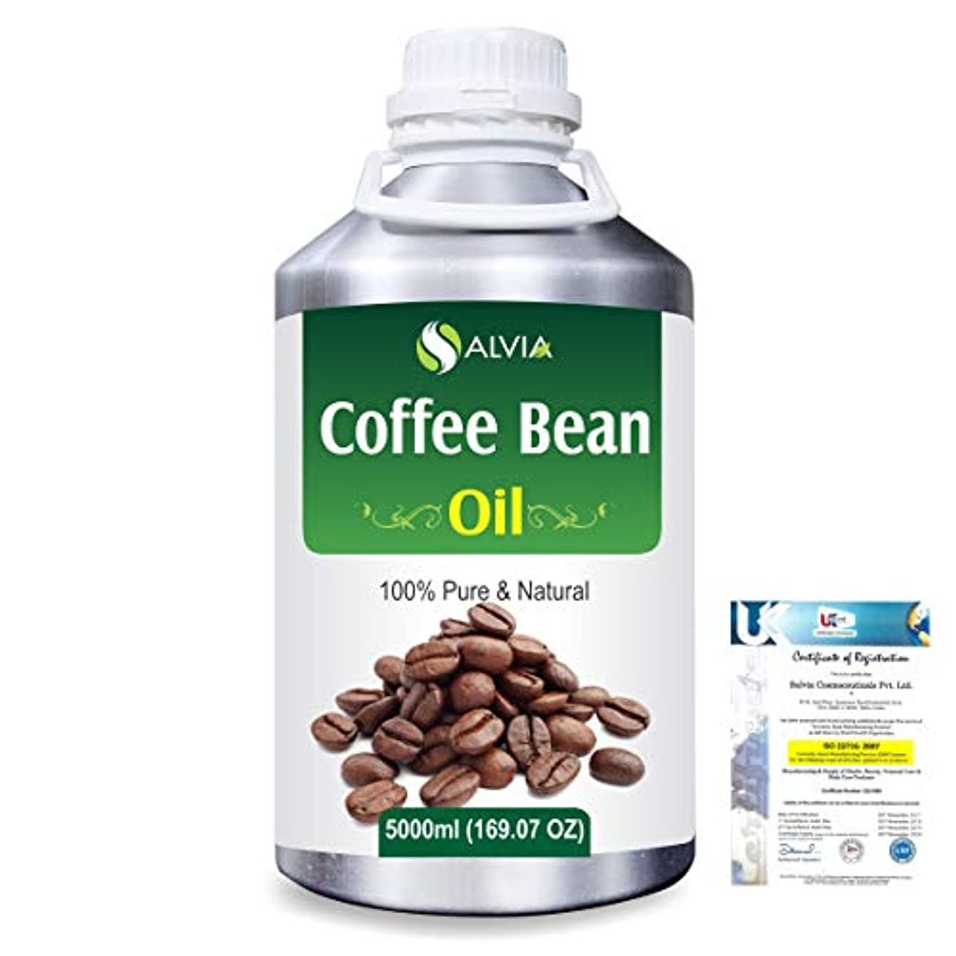 苦難に対してアラビア語Coffee Bean (Coffea arabica)100% Natural Pure Carrier Oil 5000ml/169 fl.oz.