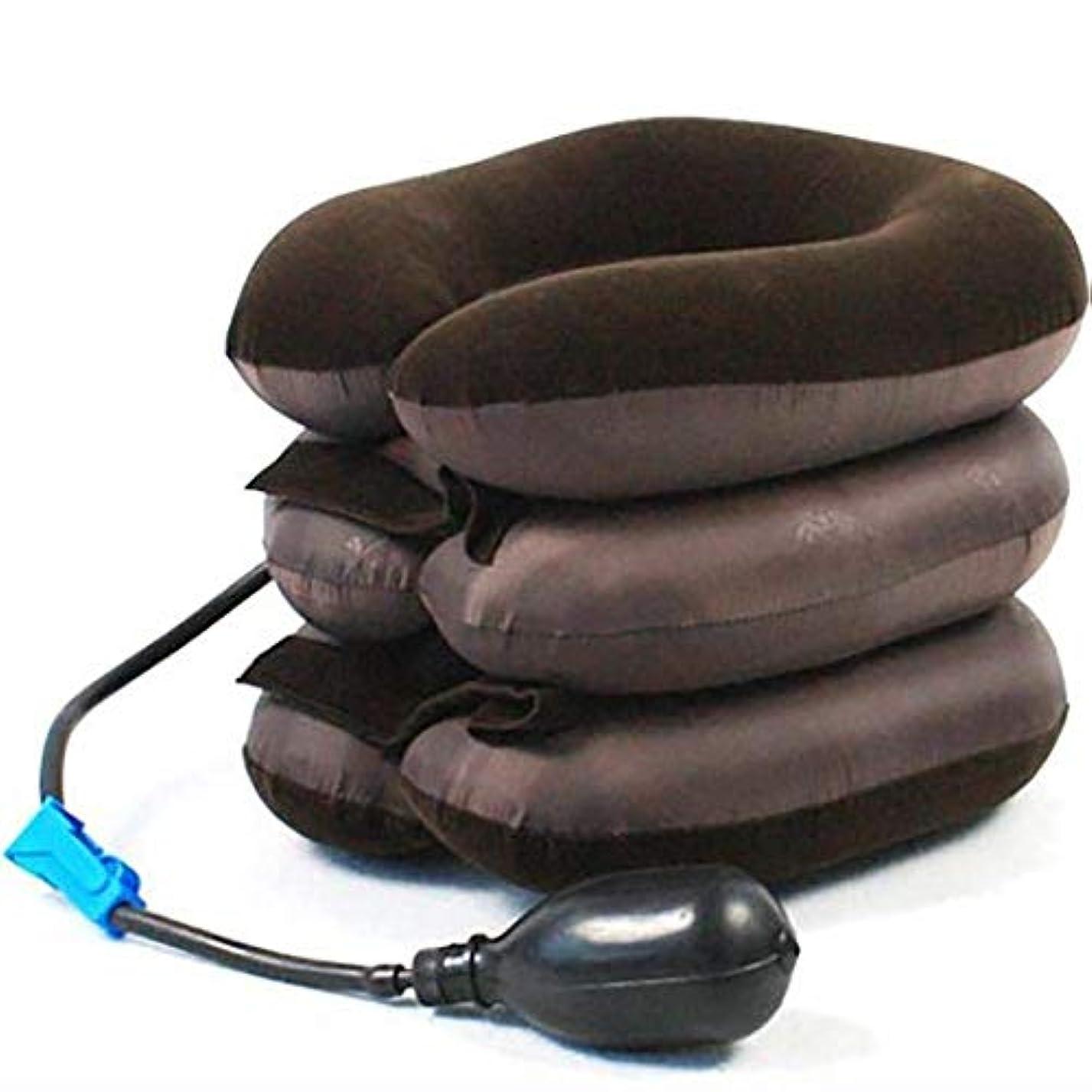 準備ができて大洪水嬉しいですLTのU字型の枕旅行枕頚部開創器の穴の3つの層の首の首NeckgLTの前のリハビリテーションの膨脹可能なテンショナーの首SLTサポート