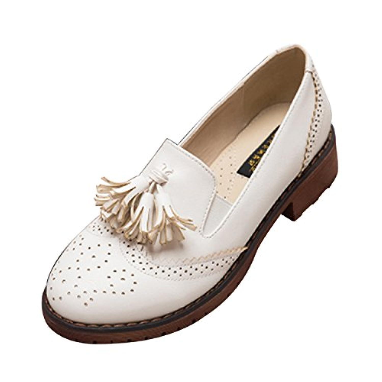 高級 革靴 レディース ビジネスシューズ 4色 レザー タッセル パンプス ローファー モカシン スリッポン