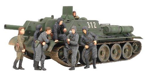 ソビエト 襲撃砲戦車 SU-122 (ウェザリングマスター・人形7体付き) (1/35 スケール限定シリーズ) 25111