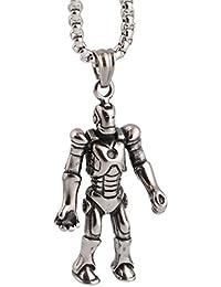 grenfファッション2016新しいスタイルのステンレススチールパンクTransformersロボットネックレスペンダントメンズ