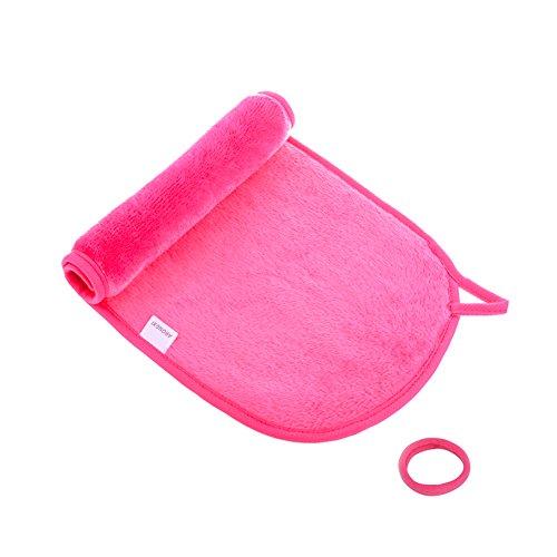 メイク落としタオル クレンジングタオル 洗顔 タオル  ケミカルフリー 水で濡らして拭くだけでメイクが落とせる ウォータープルーフ マスカラも対応 (pink) (ピンク)