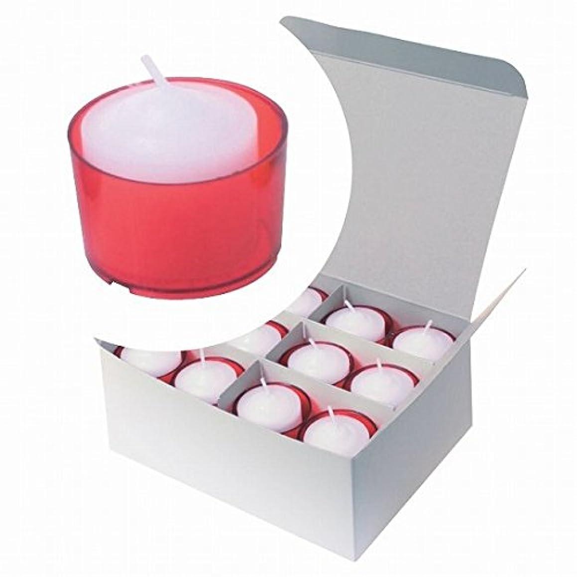 左疑わしいアトラスカメヤマキャンドル( kameyama candle ) カラークリアカップボーティブ6時間タイプ 24個入り 「 レッド 」